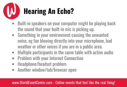 Hearing an Echo?