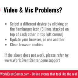 Video and Microphone Problems?